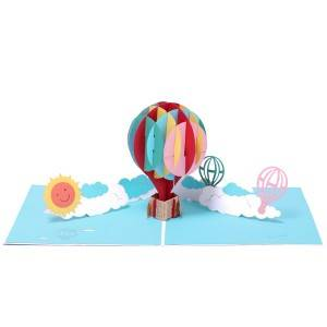 Handmade Colorful Balloon birthday greeting pop up card