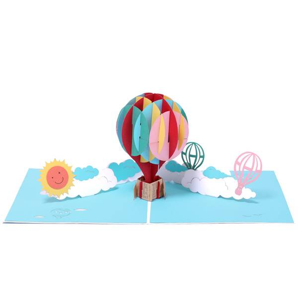 Rapid Delivery for How To Pop Up - Handmade Colorful Balloon birthday greeting pop up card – Jiujv Featured Image