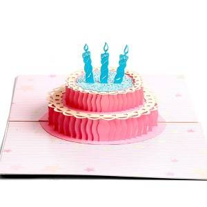Colourful Birthday Cake  Greeting Cards