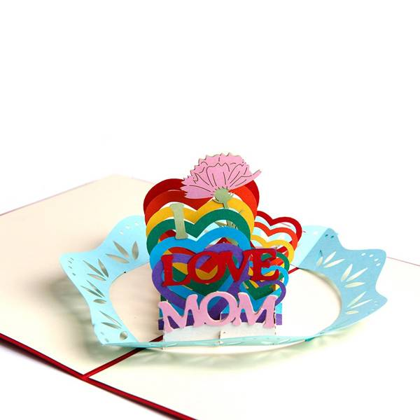 Rapid Delivery for How To Pop Up - Handmade 3D Pop Up Mother's Day Greeting Cards Thank You Cards for Mom – I LOVE MOM – Jiujv detail pictures