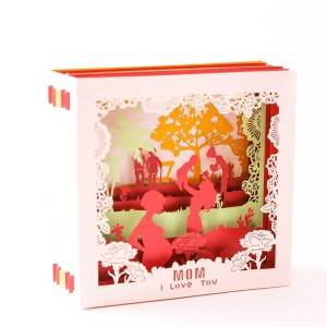 Prekrasna Laser Cut Paper Card For Mom