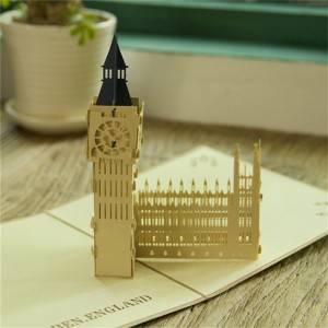 sales handmade Big Ben 3d birthday pop up greeting card