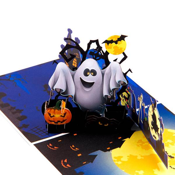 Factory source Handmade Greeting Card -    Pumkin and Ghost 3D Handmade  Pop up Halloween Greeting Card – Jiujv