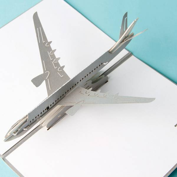 Free sample for Birthday Greeting Card - 3D Airplane design pop up cards creative birthday gift cards vintage postcard – Jiujv