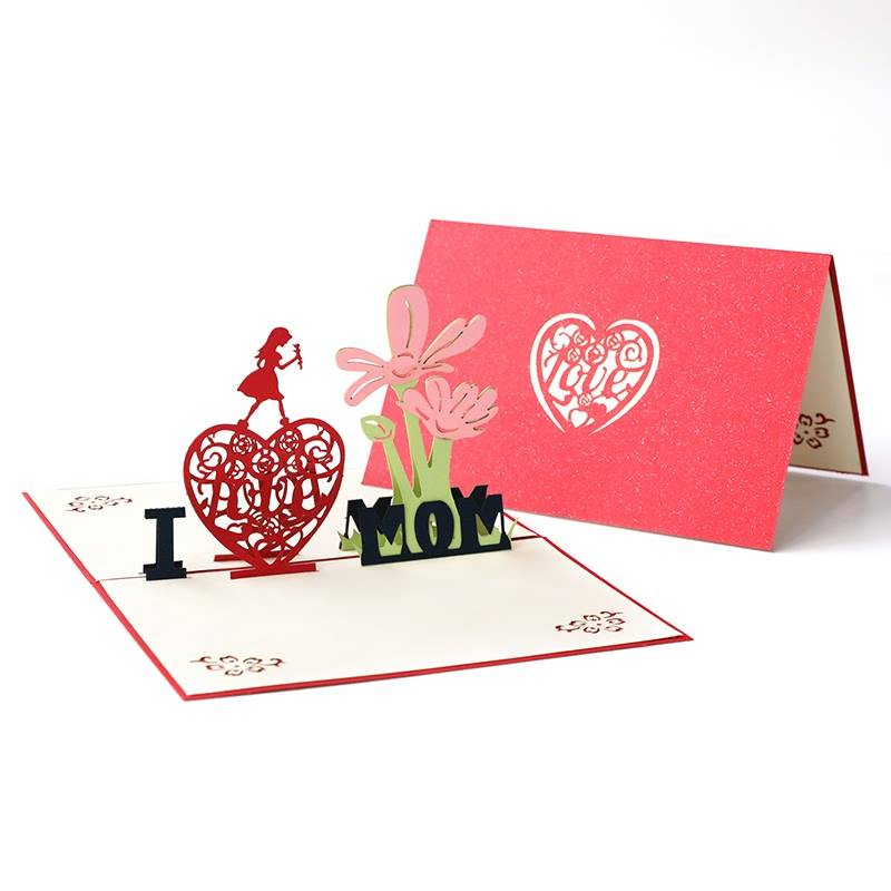 Good quality Happy Birthday Handmade Greeting Card - Wholesale Mother's Day Greeting Card Gift Card I Love Mom – Jiujv Featured Image