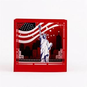 American Statue of Liberty 3D Pop Up Box Gift Box with Message Card