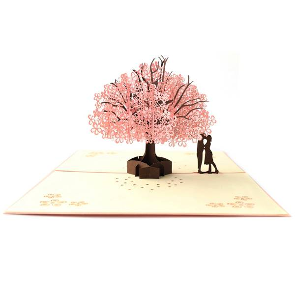 Romantic Sakura 3D pop up gift card Featured Image