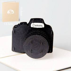 Camera pop up thank you card for business