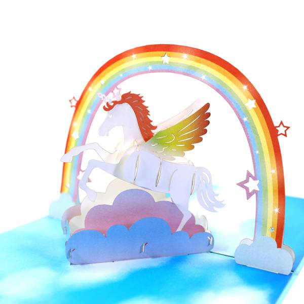 Manufacturer for Graduation Cards - Unicorn & Rainbow  3D Greeting Card Pop Up for All Occasions – Jiujv