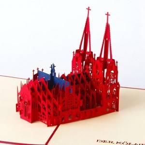 Coron Church Papercut template 3D pop up card Nice paper gifts