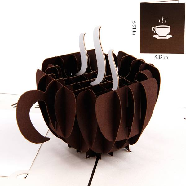 Wholesale Price Christmas Greeting Card - Coffee 3d business pop up  gift cards – Jiujv