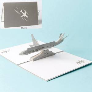 3D Airplane design pop up cards creative birthday gift cards vintage postcard