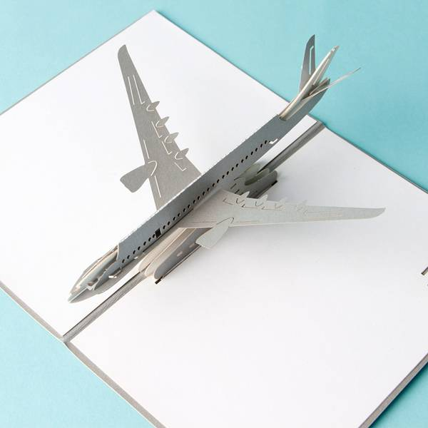 Bottom price Invitation - 3D Airplane design pop up cards creative birthday gift cards vintage postcard – Jiujv detail pictures