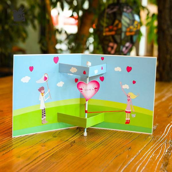 Good quality Happy Birthday Handmade Greeting Card - Paper Cut Heart Knock Pop Up Love Card  – Jiujv