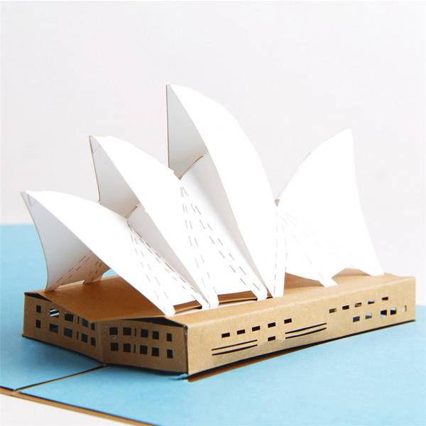 2017 New Style Pop Up - Australia Building Sydney Opera House Pop Up Card Gold Cover – Jiujv detail pictures