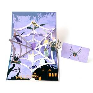 Hallowmas horrible spider  3D Halloween popup Greeting Cards
