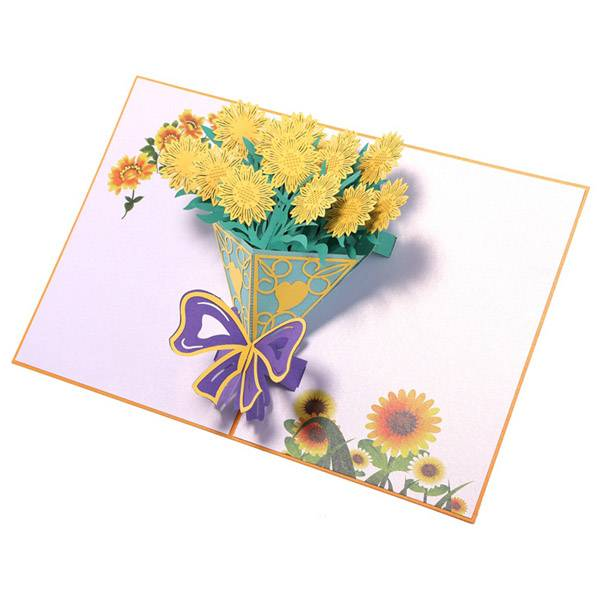 One of Hottest for Lovepop - Personalized Sunflower Bouquet  Pop Up Cards – Jiujv detail pictures