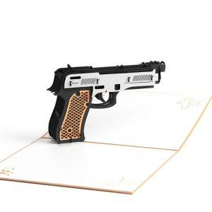 Paper Spiritz Pistol Pop Up Cards for Kids Men