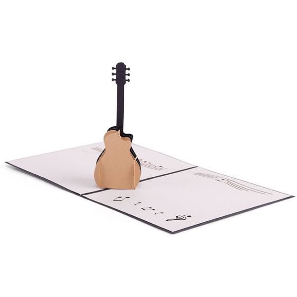 Hot Selling for 3d Birthday Cards - Guitar Greeting Card, Birthday Card, Business Card – Jiujv