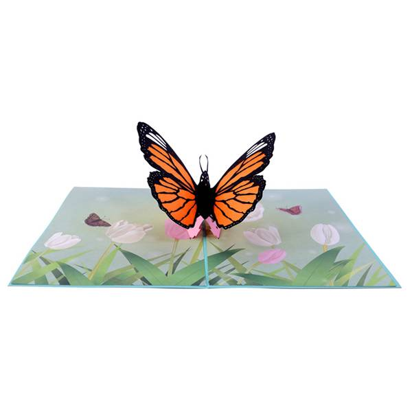 Best quality Christmas Card Pack - Beautiful Butterfly laser cutting  Pop Up Card with extra note card & Envelop – Jiujv