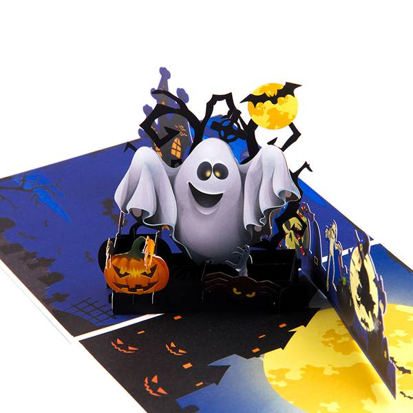 Reasonable price for Angel Pop Up Card -    Pumkin and Ghost 3D Handmade  Pop up Halloween Greeting Card – Jiujv detail pictures