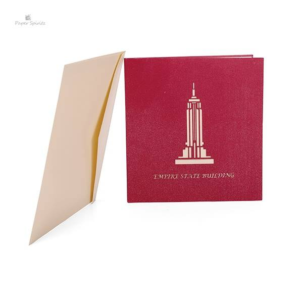Reasonable price for Angel Pop Up Card - The Empire State Building 3D Paper Greeting Card – Jiujv