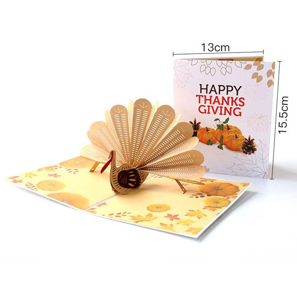 Factory Supply Birthday Wishes Card - Turkey Pop Up Thanksgiving Card – Jiujv