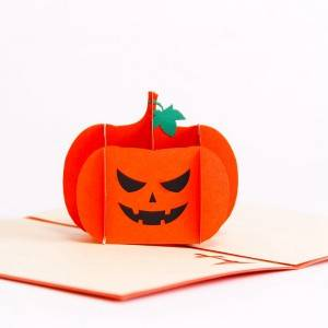Pumpkin Lamp Halloween Greeting Cards Include Envelopes
