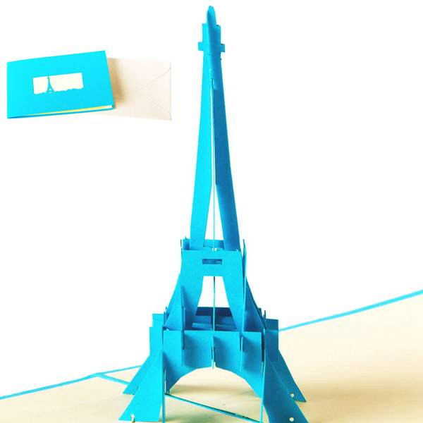 High Performance3d Card Making - Eiffel Tower card papercuting origami gift card – Jiujv