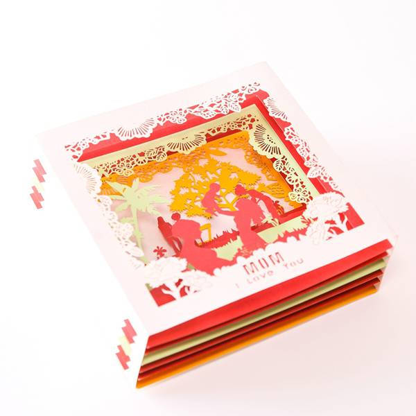China Gold Supplier for Handmake Pop Up Christmas Cards -  Beautiful Laser Cut Paper  Card For Mom  – Jiujv