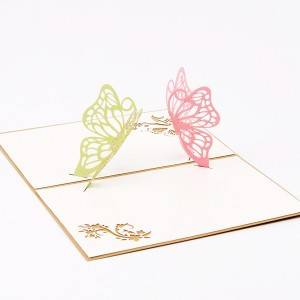 Butteryfly Handmade Hadiah Perayaan Handcrafted Pop Up Card