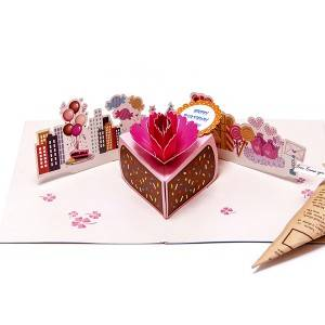 3D Pop Up Handmade Greeting birthday card for love