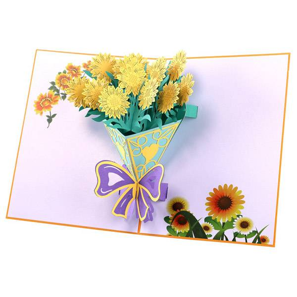 One of Hottest for Lovepop - Personalized Sunflower Bouquet  Pop Up Cards – Jiujv