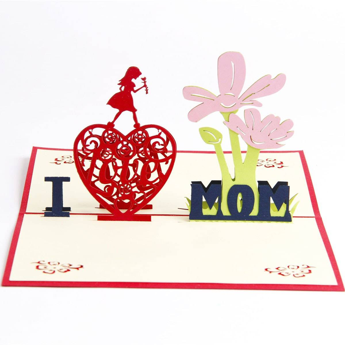 Good quality Happy Birthday Handmade Greeting Card - Wholesale Mother's Day Greeting Card Gift Card I Love Mom – Jiujv