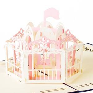 Merry Go Round Lights and Melody Pop Up Card Perfect Gift for Friends and Family