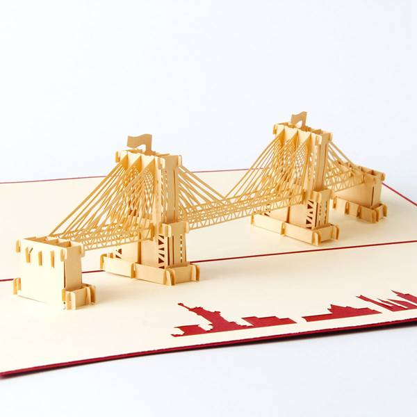 PriceList for Laser Cut Wedding Invitation Card - Brooklyn Bridge Building Personalised 3d Paper Cut Card – Jiujv detail pictures