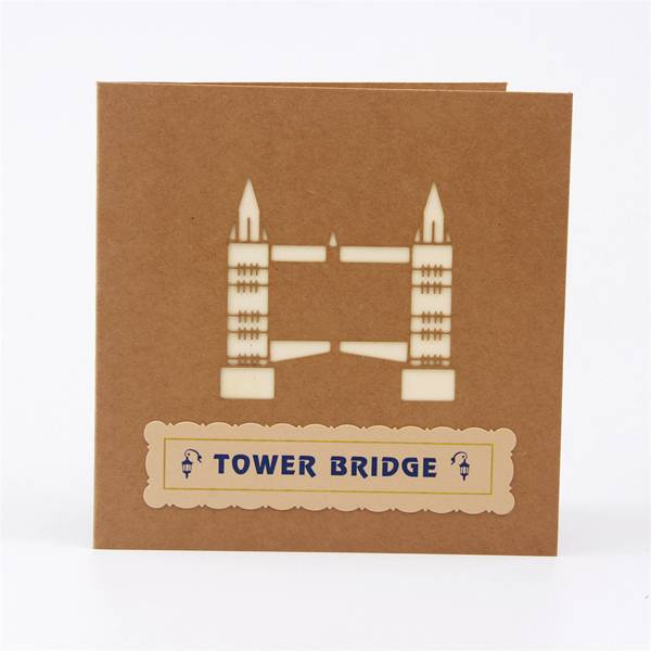 Lowest Price for Flower Greeting Card - Vintage Tower Bridge Popup Building Greeting Card for customers – Jiujv
