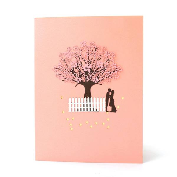 Special Design for How To Make A Pop Out Card - Romantic Sakura 3D pop up gift card – Jiujv