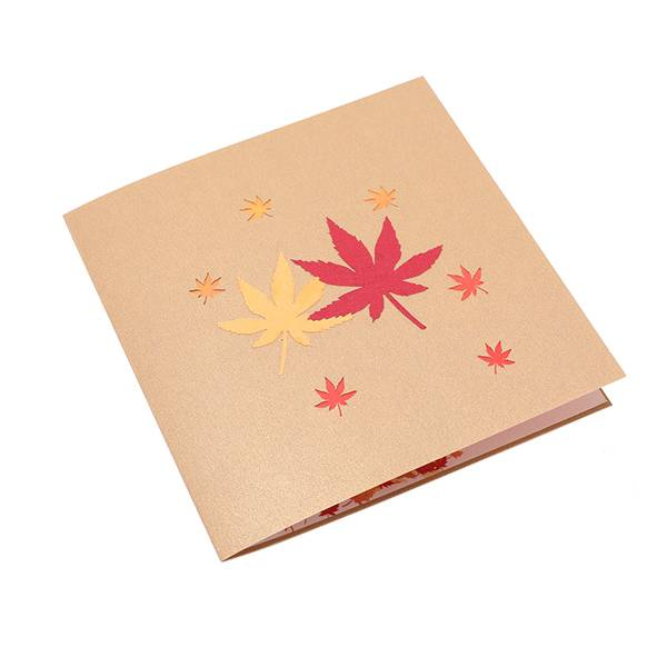 Discount Price Personalised Pop Up Cards - Maple Tree Greeting Card Unique Pop Up Card Designed 3D Card – Jiujv detail pictures