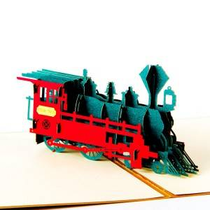 Vintage Train pop up card Chinese manufacturer 3d greeting cards