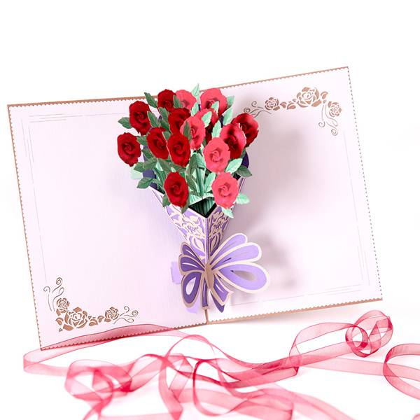 Super Lowest Price Wedding Card Design - Flower Pop Up  Greeting Card with Envelopes for All Occasions – Jiujv Featured Image