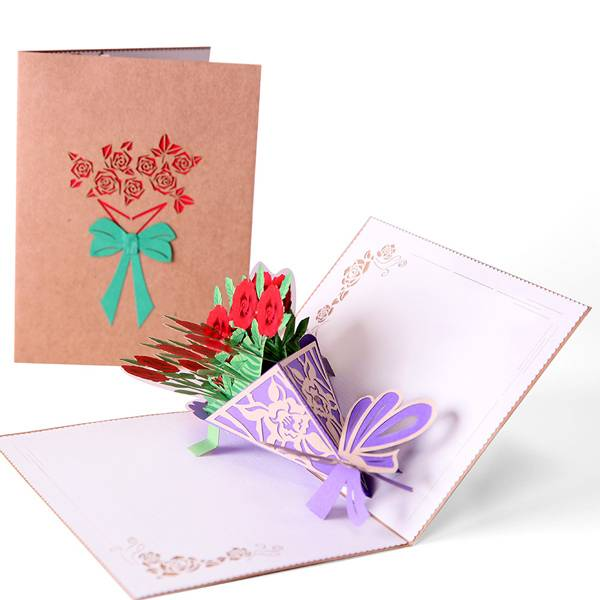 Super Lowest Price Wedding Card Design - Flower Pop Up  Greeting Card with Envelopes for All Occasions – Jiujv