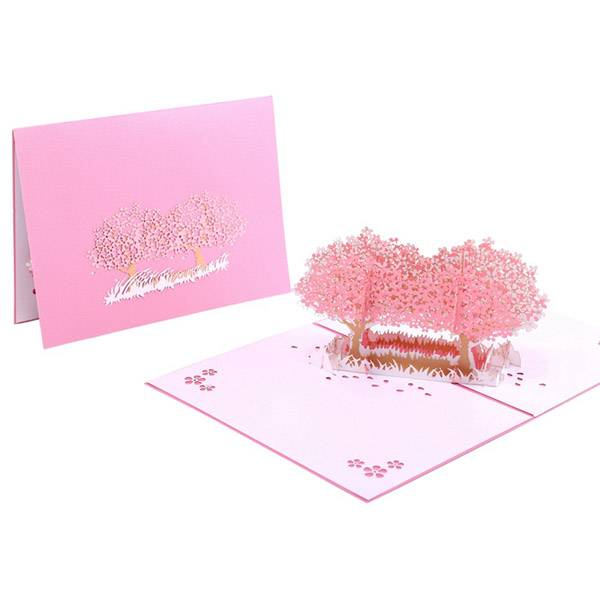OEM Manufacturer Handmade Cards - Beautiful Laser Cut cherry bloom pop up 3D greeting card with envelope – Jiujv