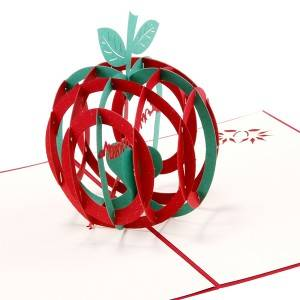 3D Apple Christmas Greeting Cards