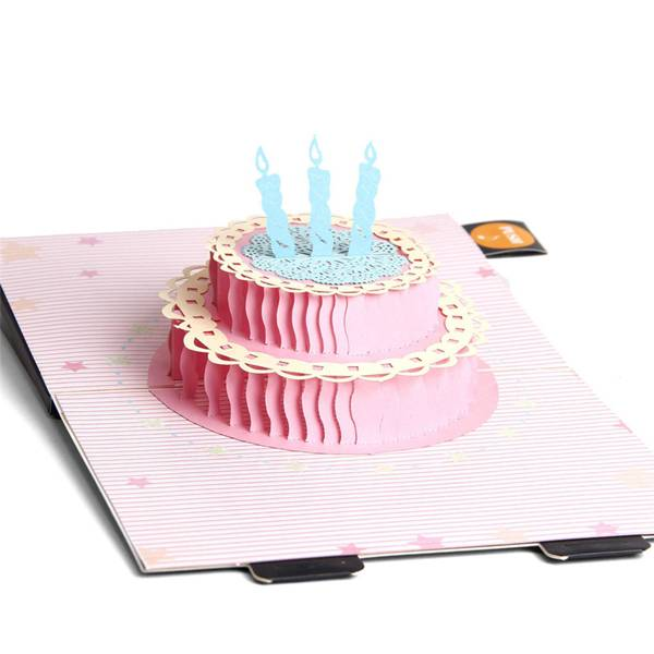 factory customized 3d Flower Pop Up Card -