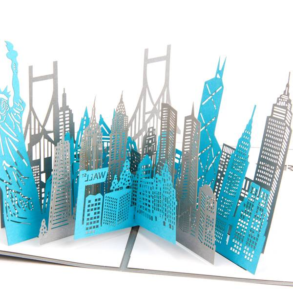 OEM Customized Greeting Card - New York City Sketch Card Laser Cut Origami Gift card – Jiujv
