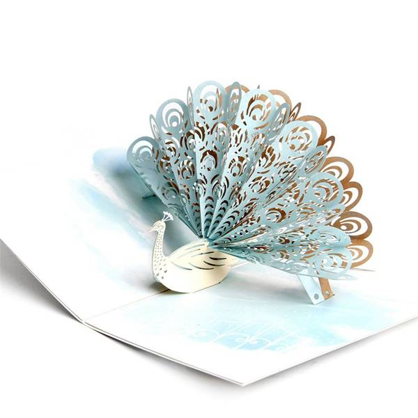 Factory Outlets 3d Laser Cut Card –  Pop Up Peacock Special Gift Card – Jiujv