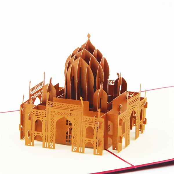 OEM/ODM Factory Make Your Own Card - Taj Mahal 3d pop up folding card  travel  gift  for City trip – Jiujv detail pictures