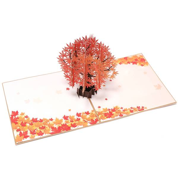 Discount Price Personalised Pop Up Cards - Maple Tree Greeting Card Unique Pop Up Card Designed 3D Card – Jiujv