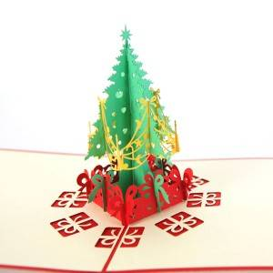 Pop Up Christmas  Tree Greeting Holiday Card for Xmas